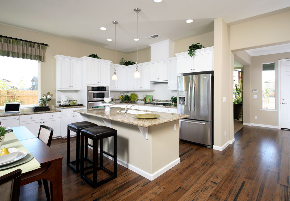 Heartland granite home for Gourmet kitchen designs