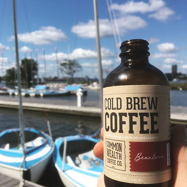 Beautiful evening for a sail on the Charles!  #beantown #coldbrew #summervibes