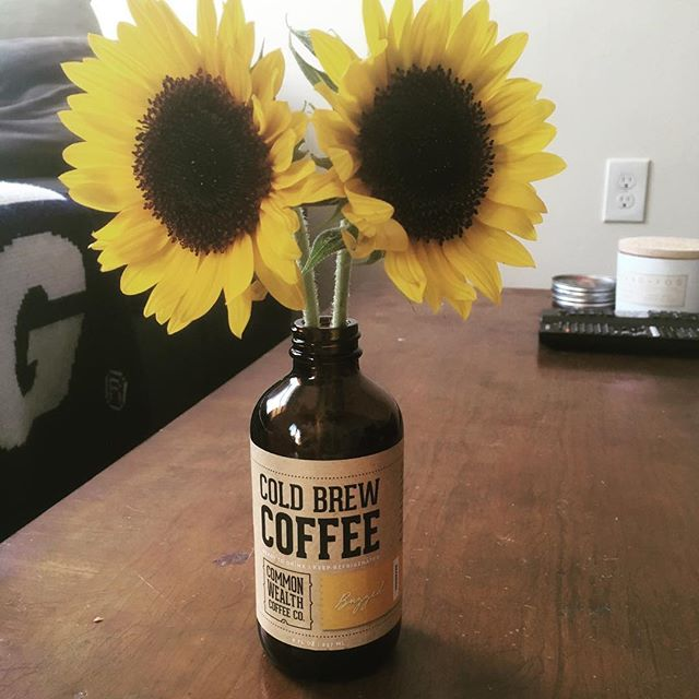 Can't have sun flowers without sun... but this heat is ridiculous. #staythirsty #coldbrew #buzzed #seasonal
