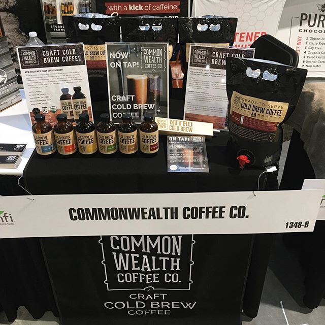 Booth 1348 @unfi Showcase!  Take Commonwealth anywhere you go!  Bottles, Catering packs, and nitro kegs, we've got you covered.