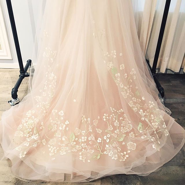 Helping our brides find their unique style is what we love to do. Congrats to our L&B brides today! Gown & veil by L&B #stylingbylandb #landbbrides #blushingbride