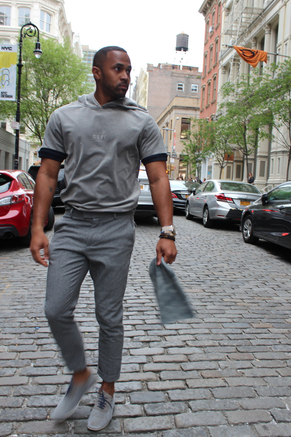All Gray is my favorite color. It is imperative that you feel confident on what you wearing, so why not start with your favorite color.