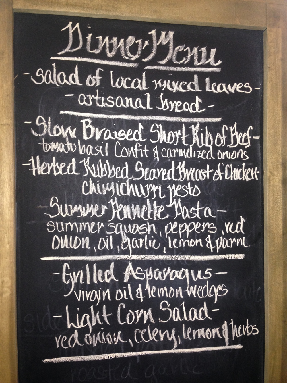 One example of our endless menu options, scroll down for some more nice piccies....