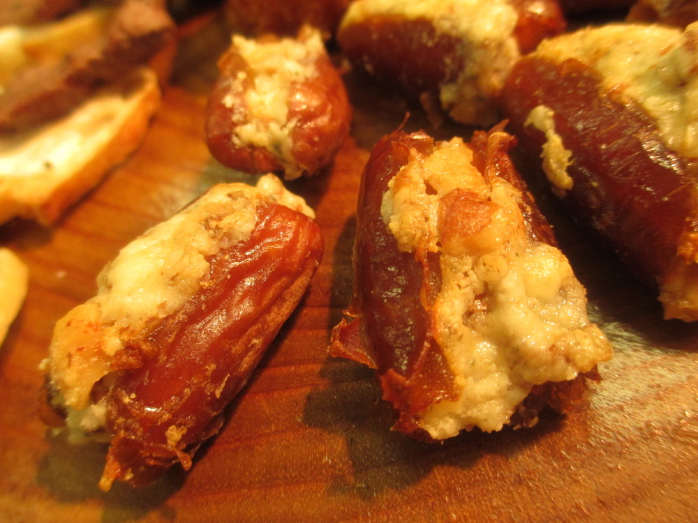 Bacon and Stilton Stuffed Dates