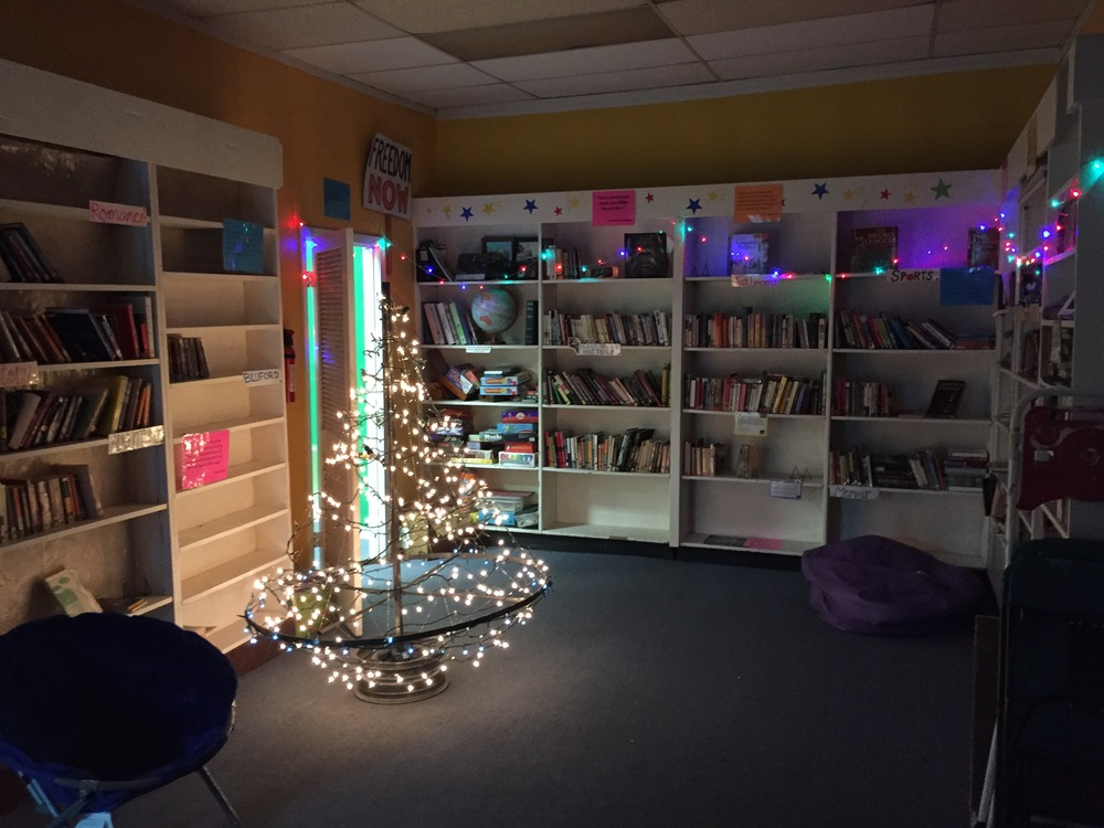 A little holiday decoration in the SCFP library! Reading by twinkling light is the best!