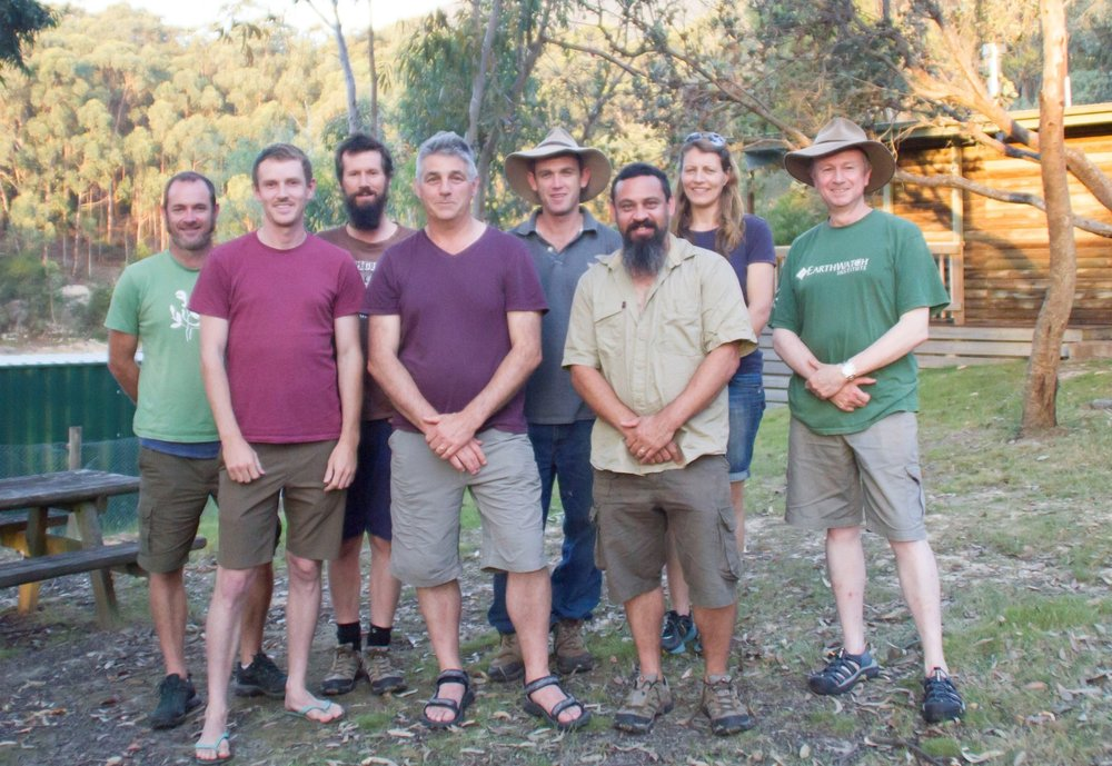 The field team minus Dave Blair at the end of 2017.