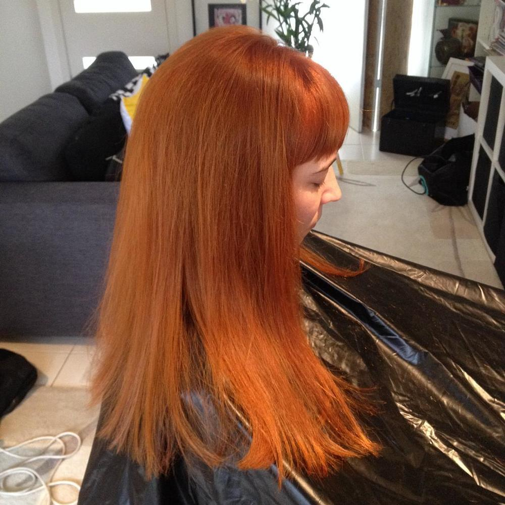 Thelda's stunning red colour, by Gemma Vendetta