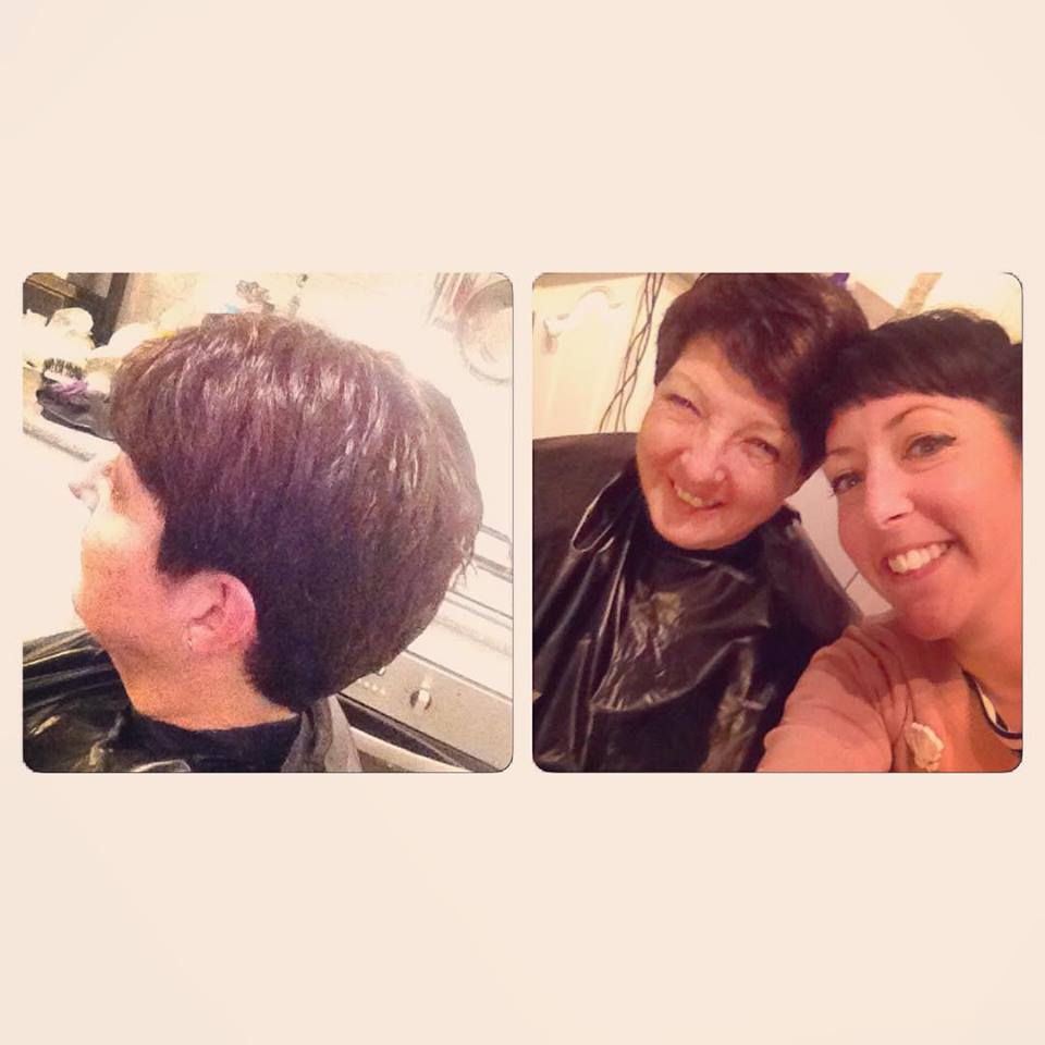 In a turn of events that I've been waiting for... my Mum FINALLY let me cut her hair. Proudly my most difficult client, ever! ;) xx
