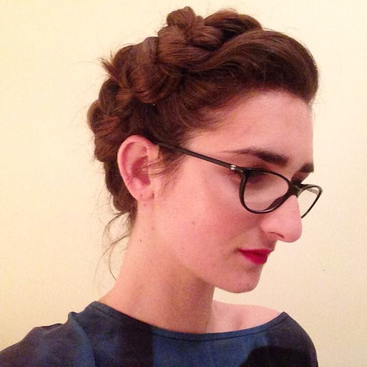 Leah shown here - after 12hrs of wearing the crown braid! Still intact, and looking amazing. Gah, I love this gal.