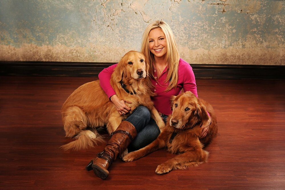 Taylor and her rescue dogs, Tatum & Oslo.