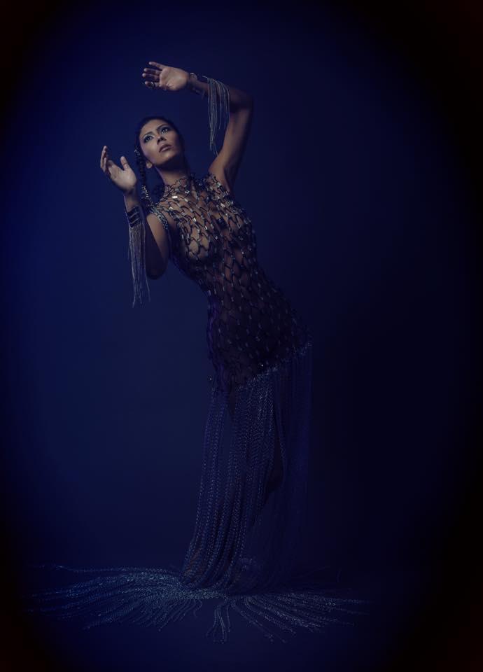 PHOTO IAN TRAVIS BARNARD MODEL CHRISTINA PALAVRA MAKEUP/CUSTOM DRESS/STYLINGLISETTE BUGEJA