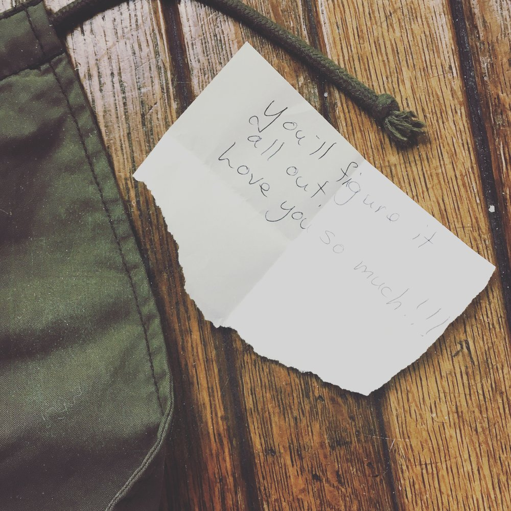 My mom always leaves notes behind when she knows I need it. I found this in my bag after she had left from our scouting in the Hudson Valley Region. The lump in my throat subsided only with the distraction of taking this while waiting on the train in the beautiful station. I have the best family.