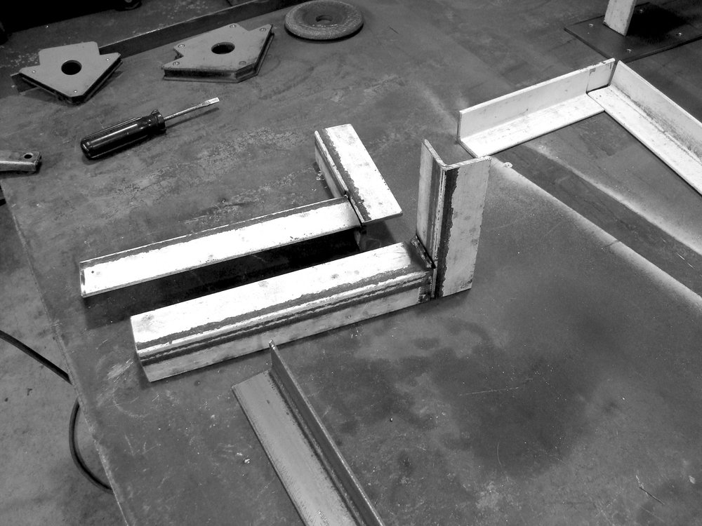 Corner pieces for the step rail I will be climbing on.