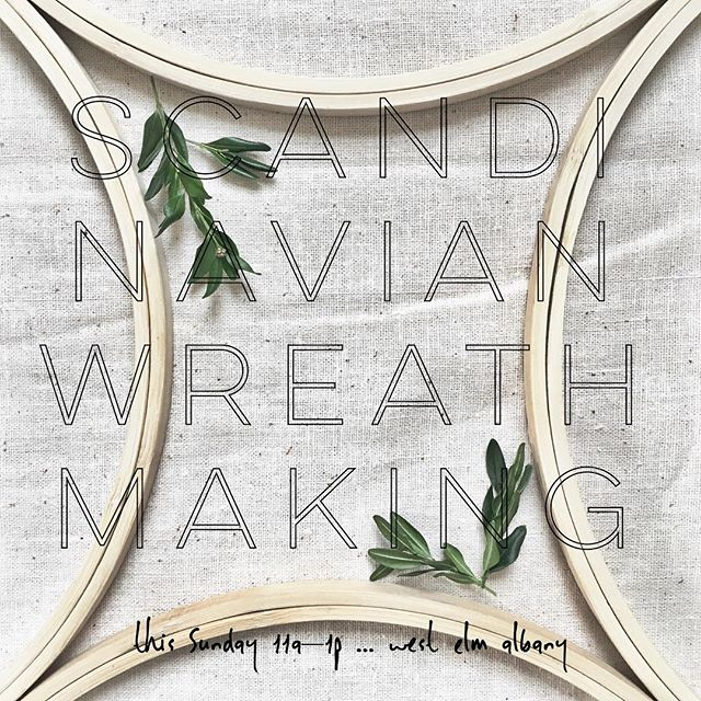This Sunday 11a–1pm is one last shot at making a Scandinavian Wreath just in time for Christmas! - . [Link for registration in bio] - . . . #holidaymaking #community #iloveny #albany #capitaldistrict #newyorkmakers #upstateny #upstate #makersmovement #handcrafted #artisanmade #workshop #westelm #local #wreathmaking #scandinavianhome #scandinaviandesign #interiores #stuyvesantplaza #hoopdreams #christmas #homedecor #myhandsmaking #wemadethis #flashesofdelight