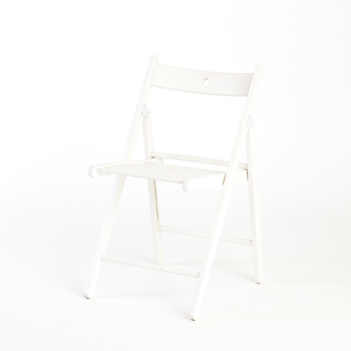 white folding event chair