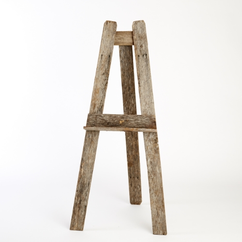 Rustic timber floor standing easel