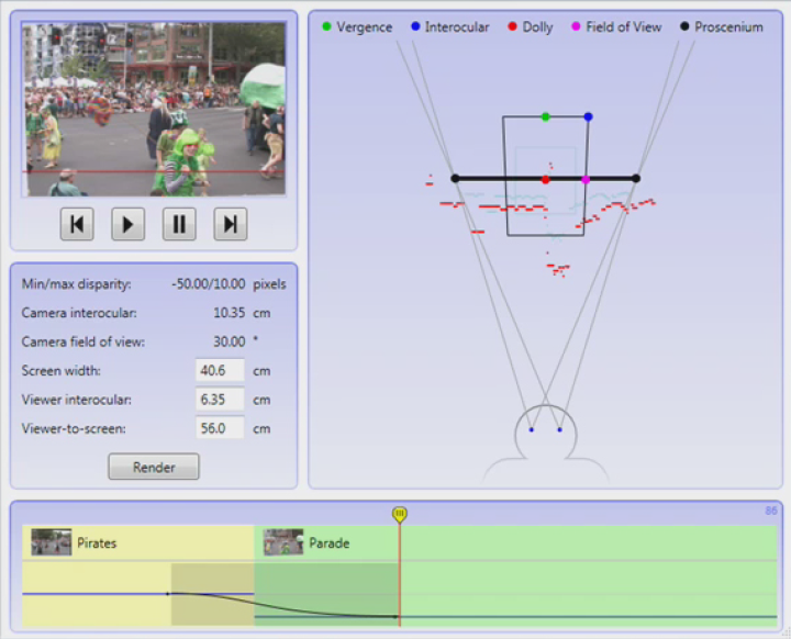 A viewer-centric editor for stereoscopic camera