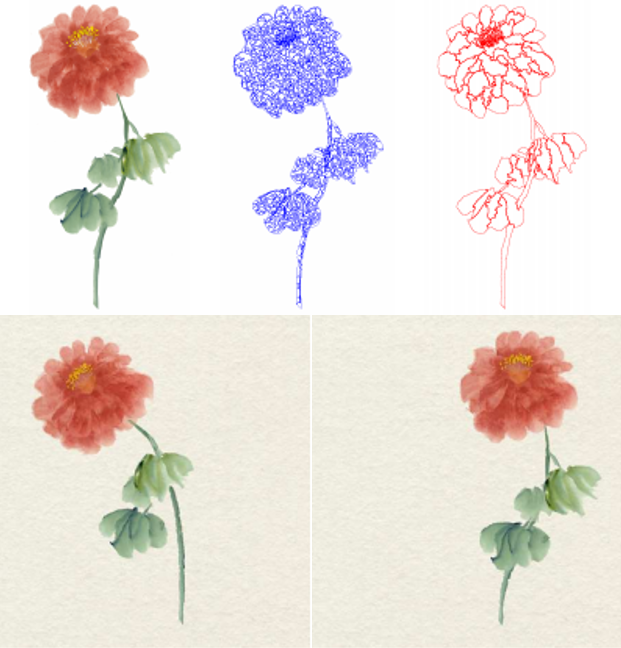 Animating Chinese paintings through stroke-based decomposition