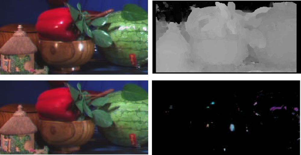 Simultaneous separation and depth recovery of specular reflections