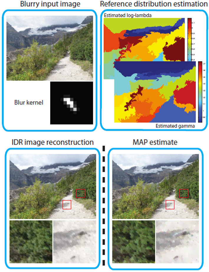 Image restoration by matching gradient distributions