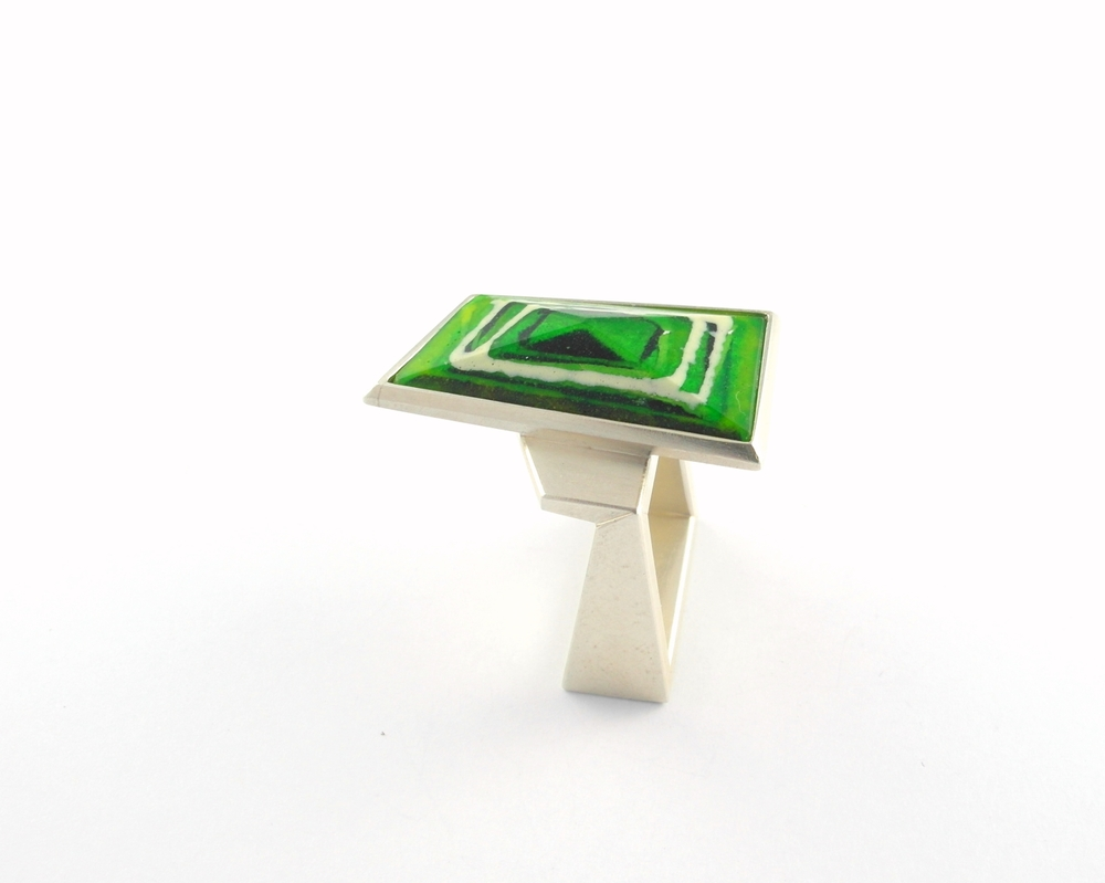 D891 Ring by Dore Stockhausen 2012 - 925 silver, enamel (in stock)