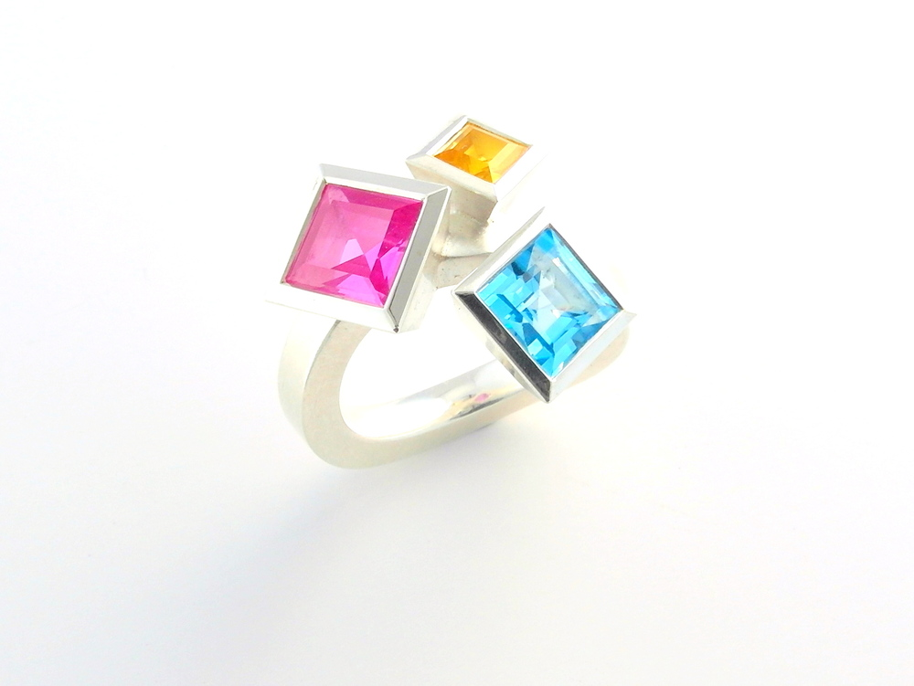 M617 ring by Marcus Foley 2013 - 925 silver, synthetic sapphire (Private collection)