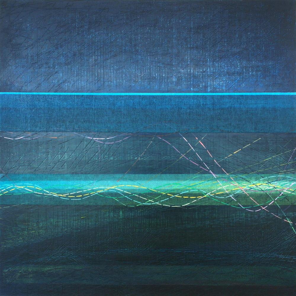 'Across & Beneath III' 45 cm H x 45 cm W $̶5̶5̶0̶,- Sold