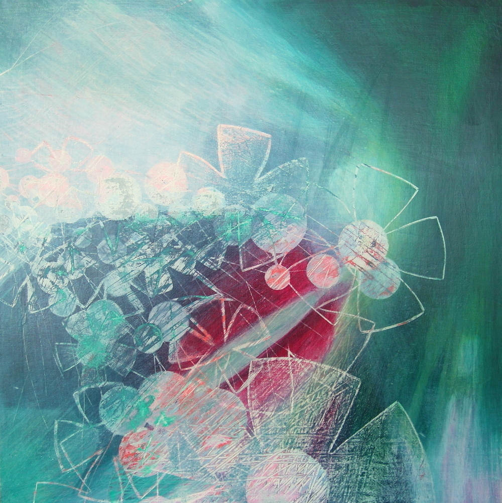 'Hero' - Spring Bloom by Dore Stockhausen - 305mm x 305mm, acrylic on canvas board - 2015. $400,-