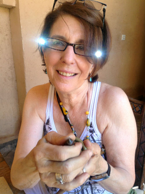 Joan at work on the 2014 Jewellery Tour