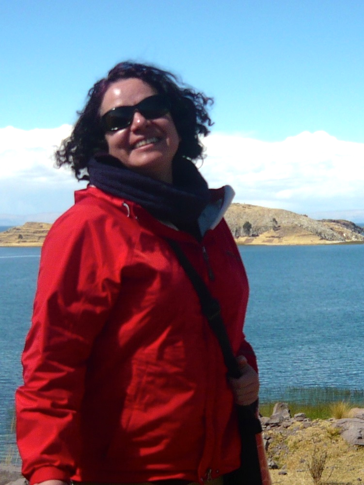 Ximena at Lake Titicaca.