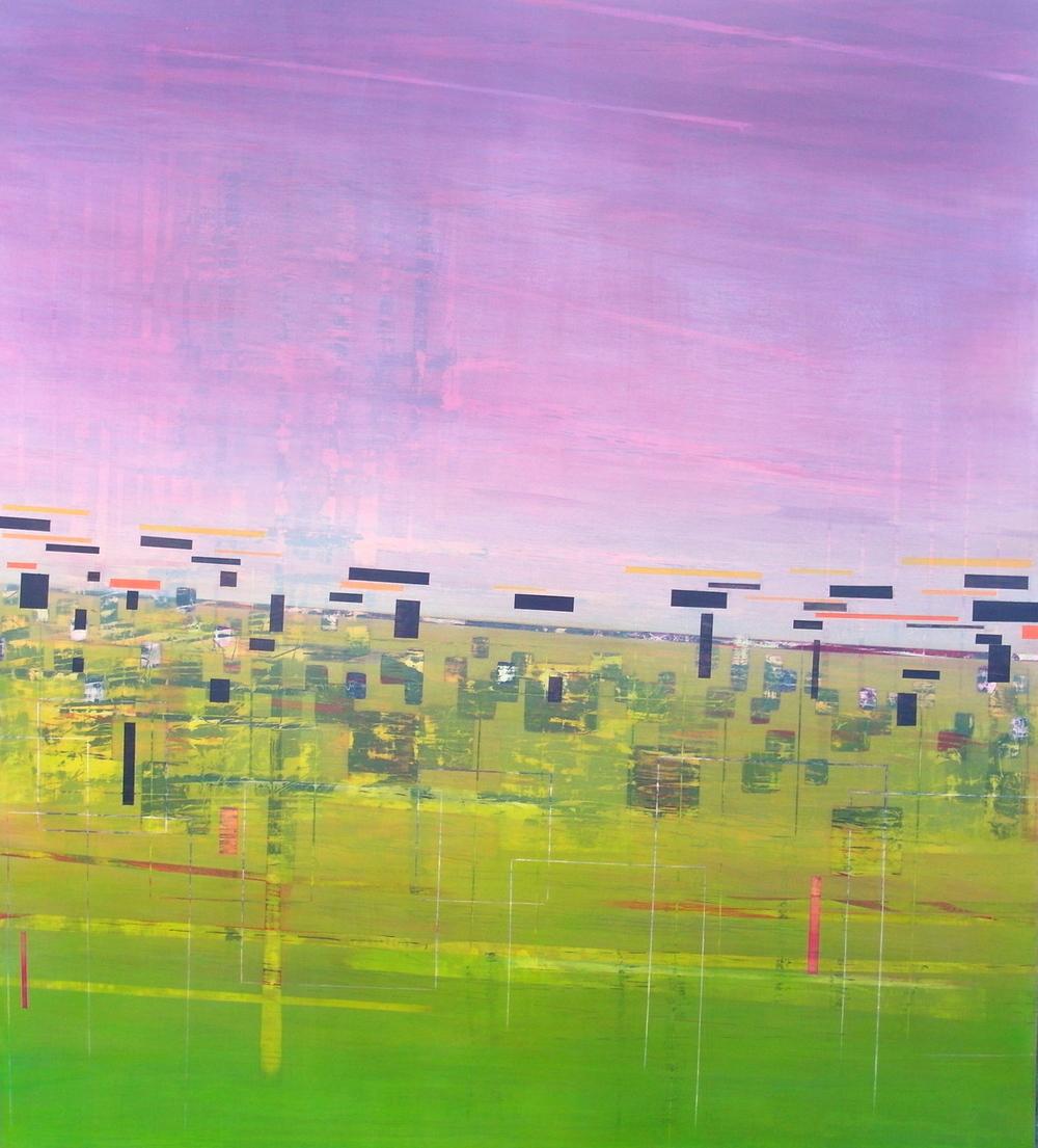 'Verge III' - from The Drive by Dore Stockhausen, 2016 - 900 mm W x 1000 mm H. acrylic on canvas on dibond.$̶3̶,̶2̶0̶0̶,̶-̶ Sold
