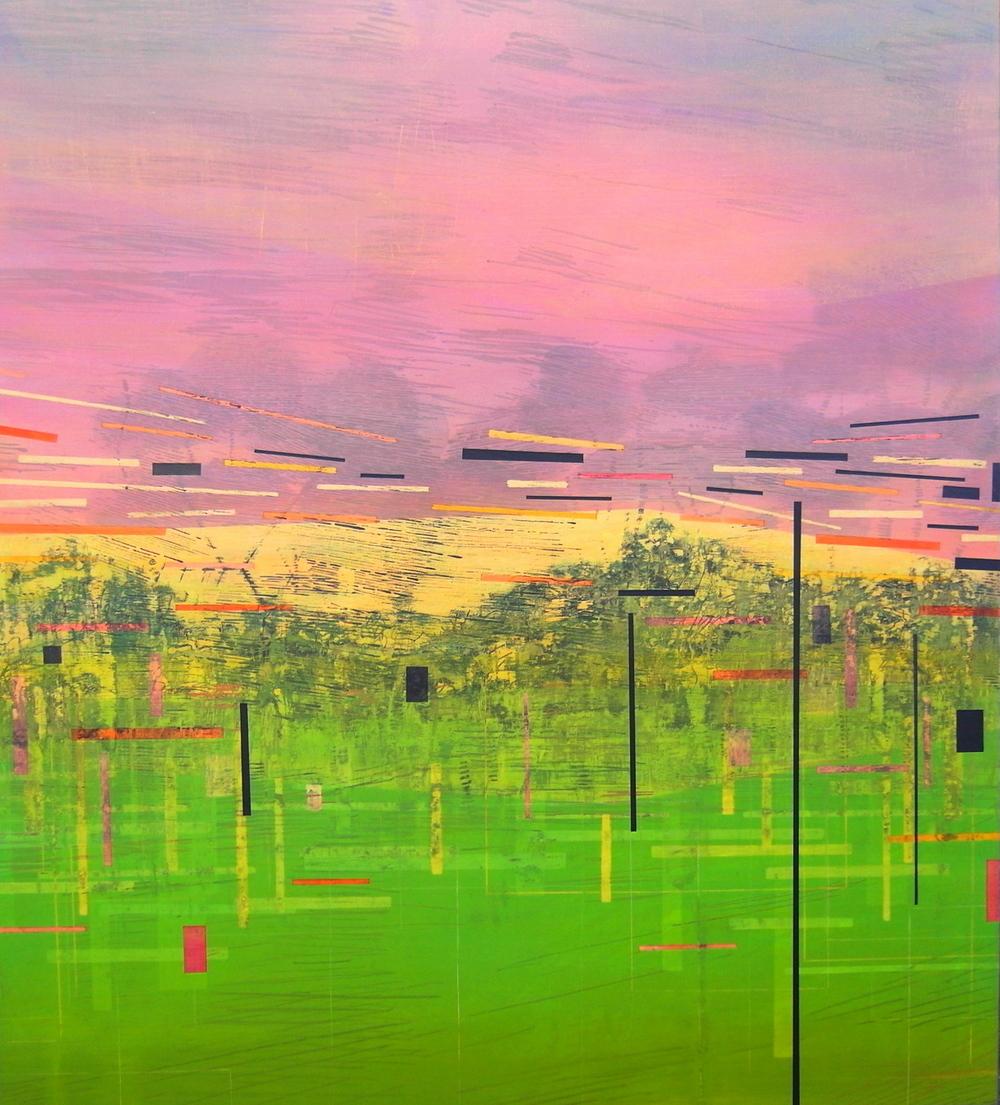 'Verge IV' - from The Drive by Dore Stockhausen, 2016 - 900 mm W x 1000 mm H. acrylic on canvas on dibond.$̶3̶,̶2̶0̶0̶,̶-̶ Sold