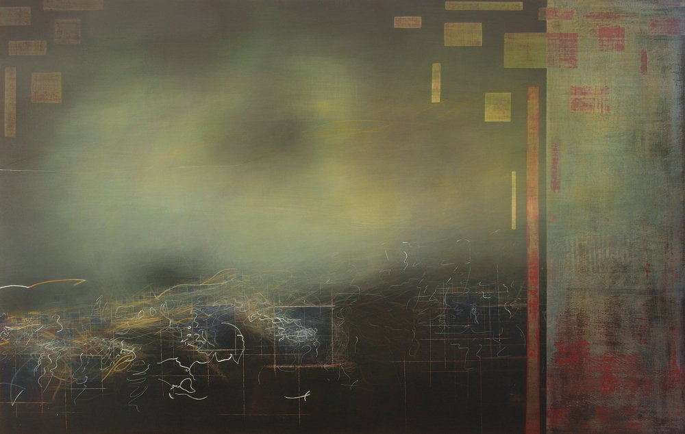 'Hobart, 1st sighting' 110cm W x 70cm H $4,000,-