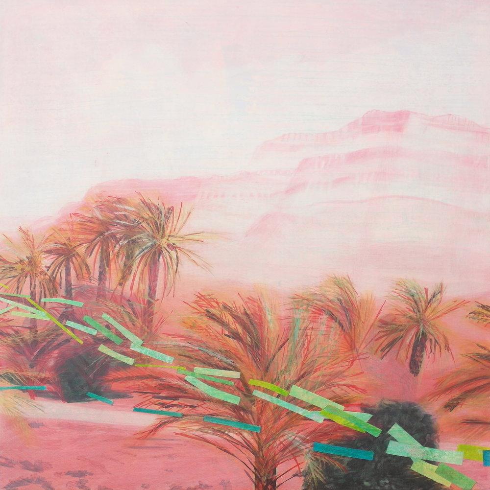 'Exterior View I, Nekob' 55 cm W x 55 cm H $̶9̶5̶0̶,̶-̶ SOLD