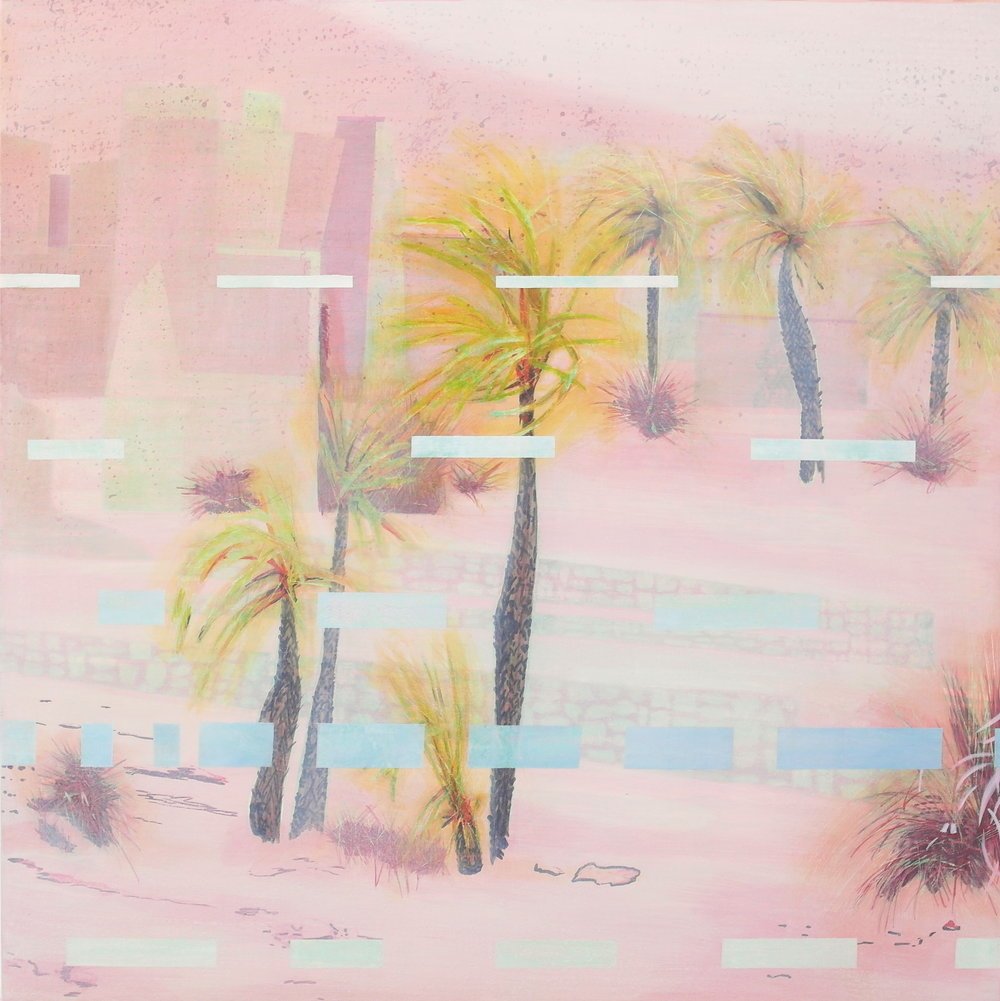 'Exterior View II, Nekob' 55 cm W x 55 cm H $950,-