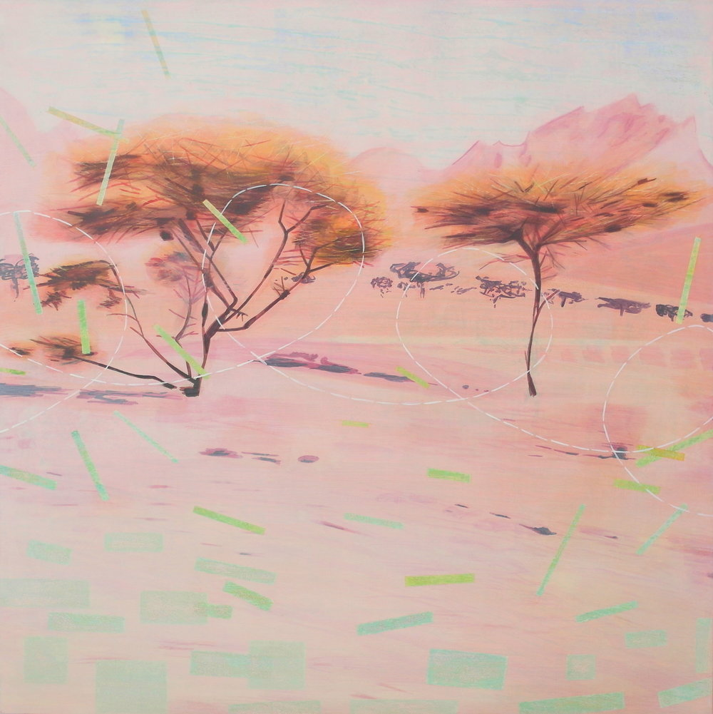 'Exterior View III, Nekob' 55 cm W x 55 cm H $950,-