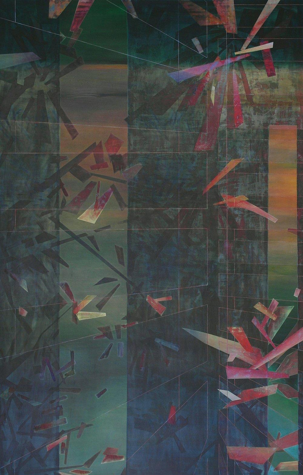 'Early Morning at Maringa I'  110 cm W x 170 cm H $8,000