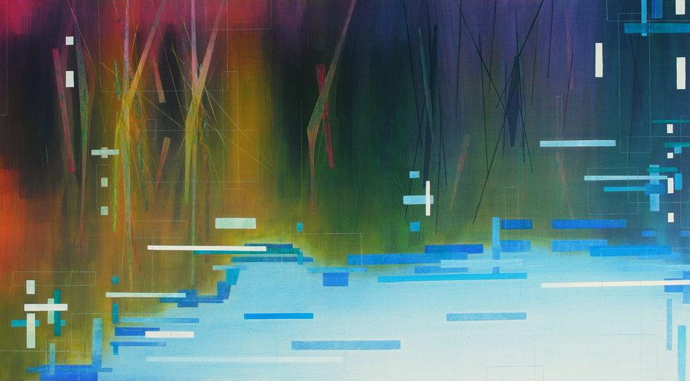 'Reflection' 83 cm H x 150 cm W $̶1̶,̶2̶0̶0̶  SOLD