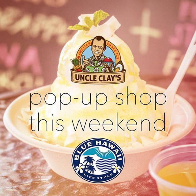 You + Me + Lemongrass Haupia Turmeric Shave Ice = #alohaweekend 🌈🍧 Sat & Sun noon-6 gourmet health-minded shave ice creations in the café care of @uncleclays #🍴 #🌴 #livealoha