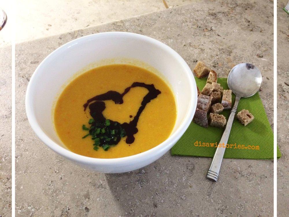 Kürbis - Quitten - Karotten Suppe