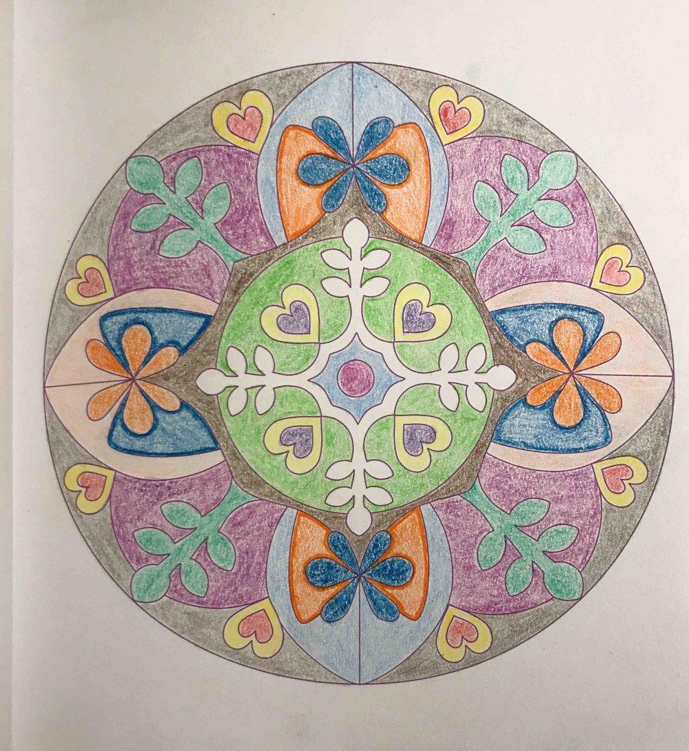 Meine erste Mandala :)