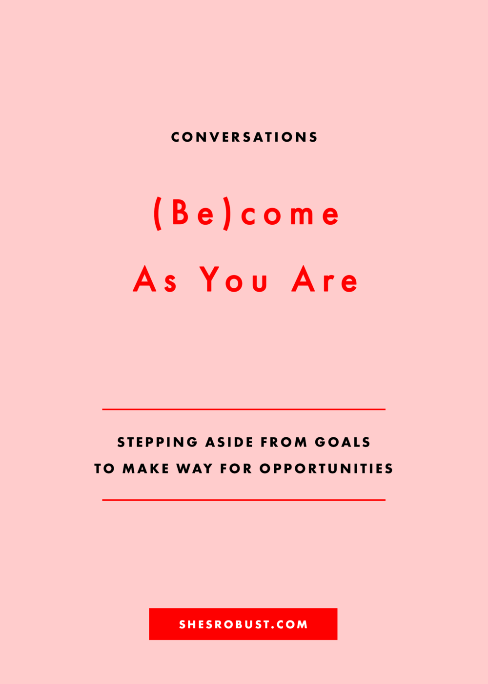 What should you do when opportunities ask you to step aside from your goals?
