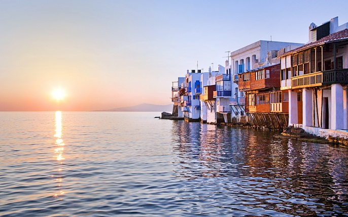 Amazing sunset trips at Little Venice Mykonos