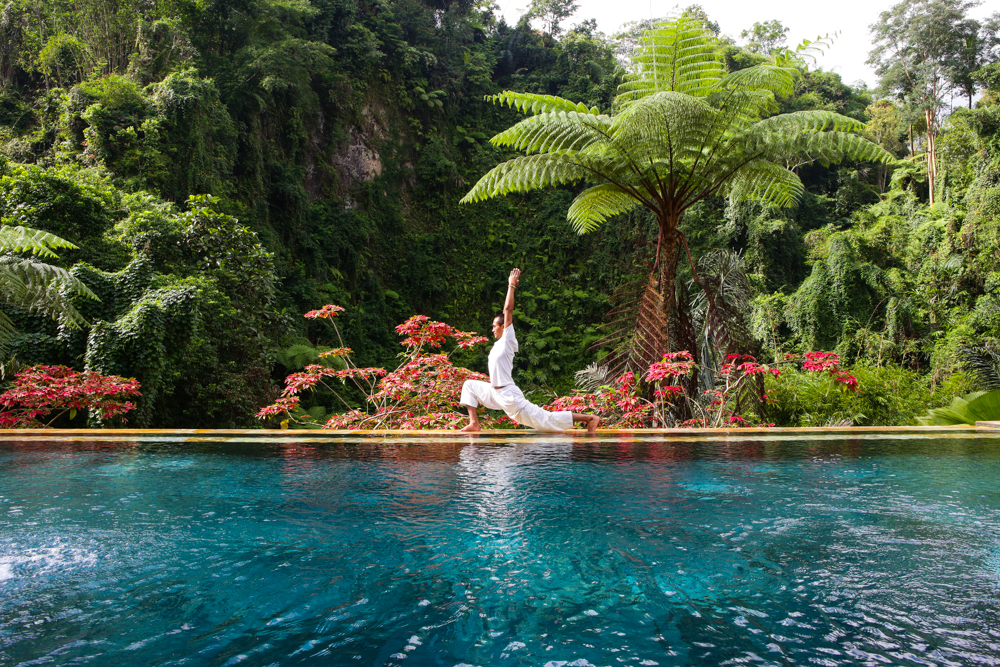 UBUD , BALI - JULY 5th: Yoga at Bagus Jati Detox Resort and Spa in Ubud, Bali 2014. Photo by Gaye Gerard