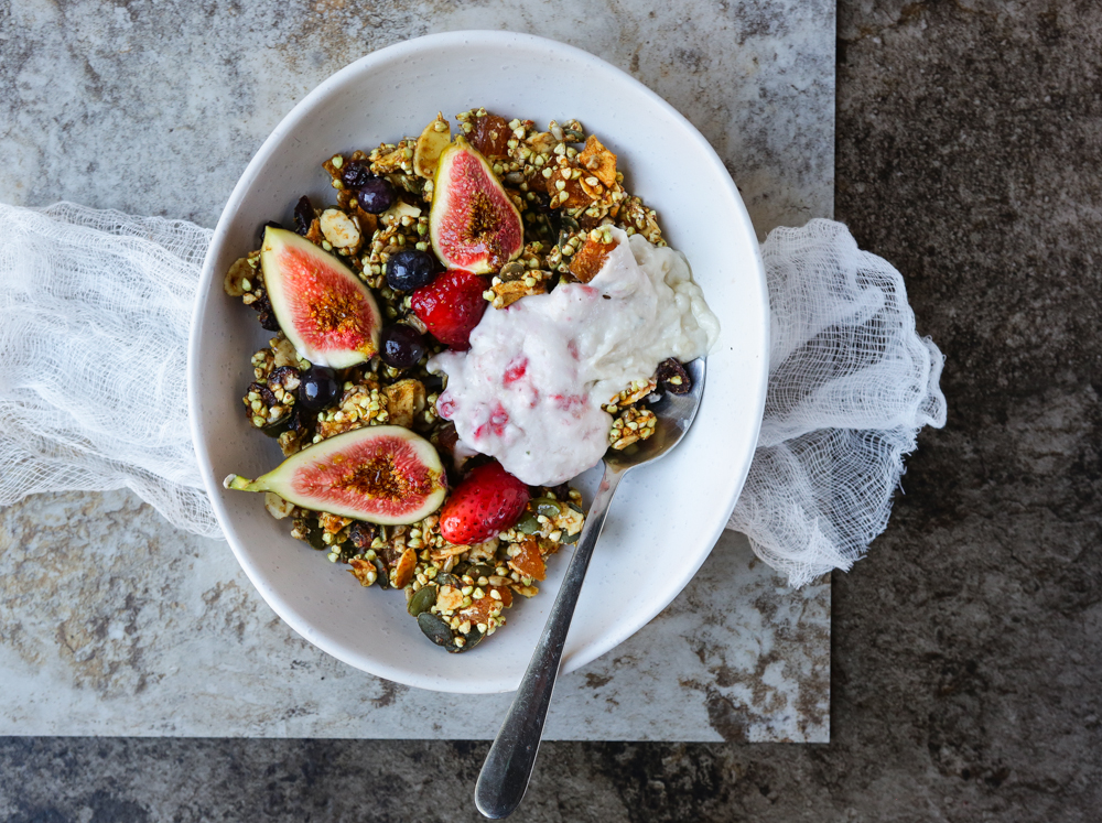 Raw Buckwheat Granola + Coconut Yogurt