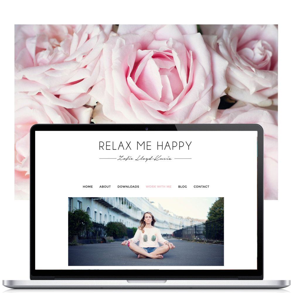 example for Web Design in Bristol for Relax Me Happy by Visuable