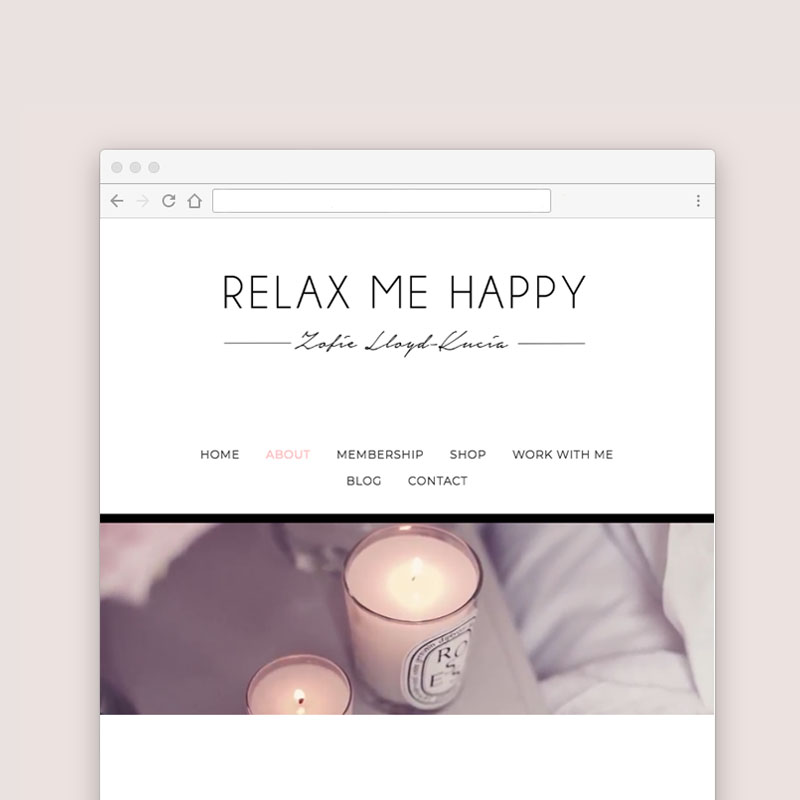 Squarespace Website Design for Zofie Kucia, a hypnotherapist in Bristol, UK