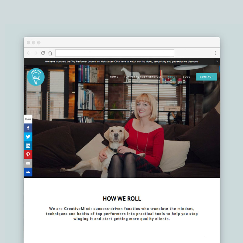 Squarespace Website Design for a Jen Wagstaff, a sales consultant in Bristol, UK