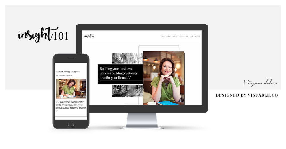 Website Design in Bristol by Visuable for Philippa Haynes, Insight 101