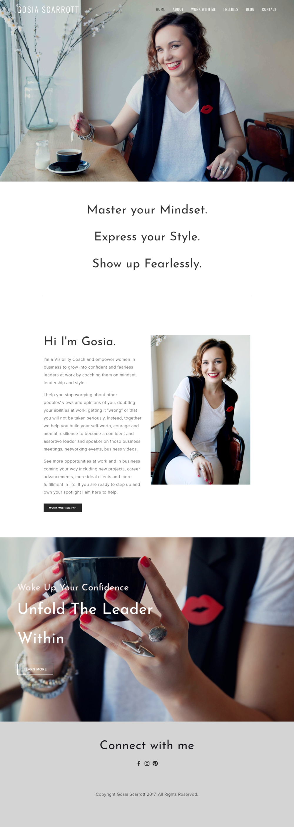 Web Design in Bristol for Gosia Scarrott by Visuable